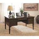 Coaster Desks Traditional Writing Desk With Curved Profile