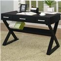 Coaster Desks Casual 3-Drawer Desk with Criss-Cross Legs - Also Available in Black Finish
