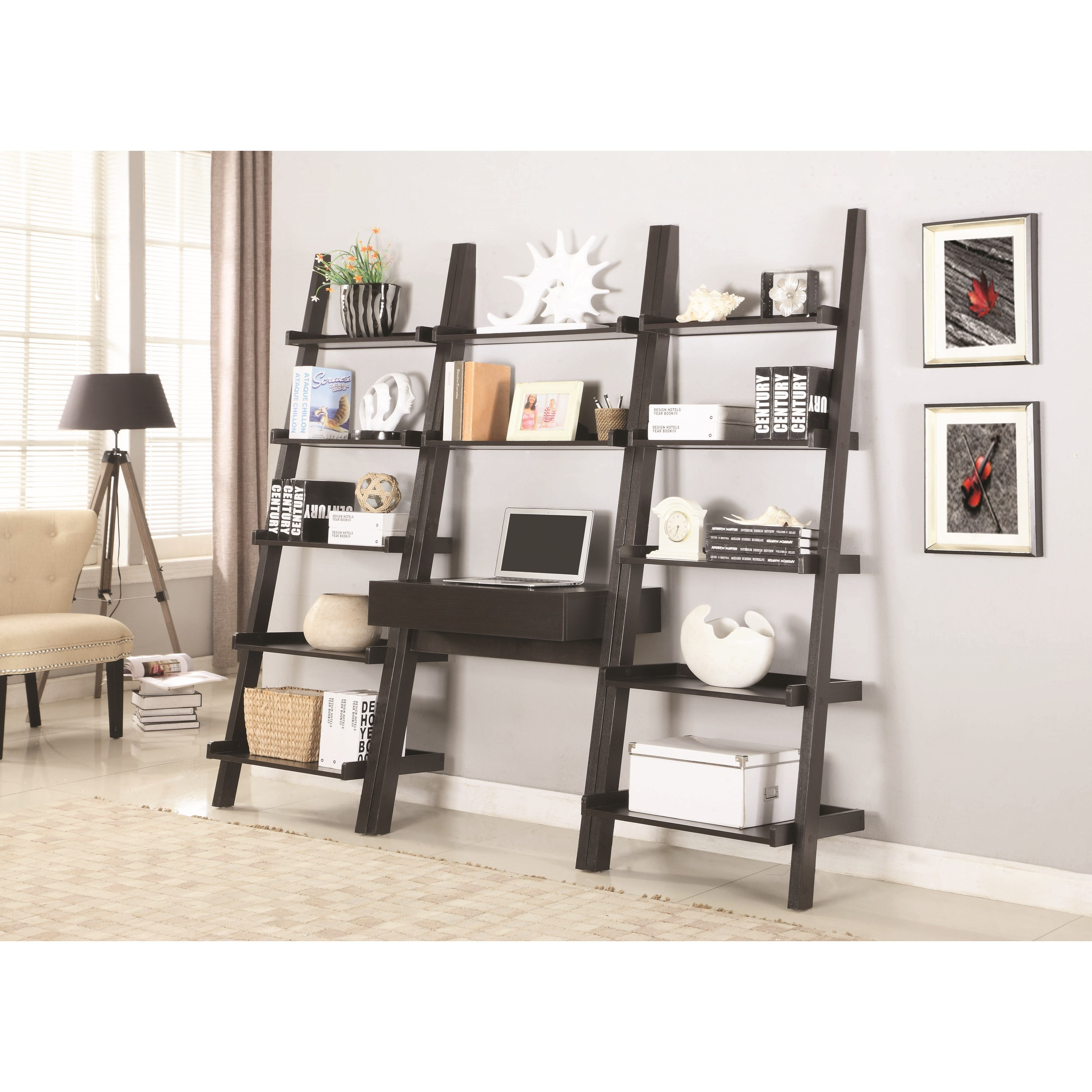 Coaster 801373 Wall Leaning Writing Ladder Desk