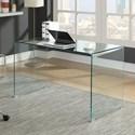 Coaster  - Contemporary Glass Desk