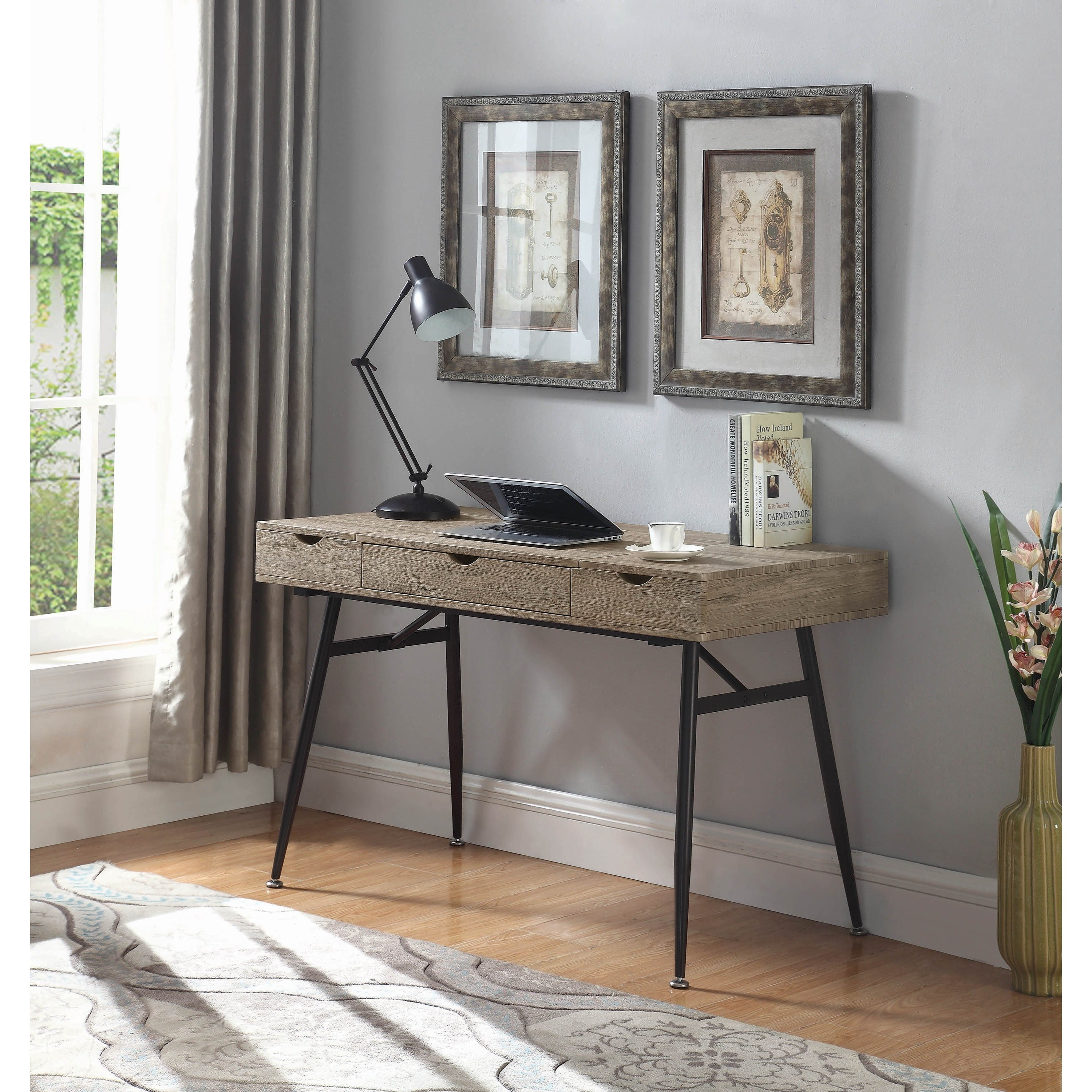 Office Furniture: Lift-Top Writing Desk With Wire Management