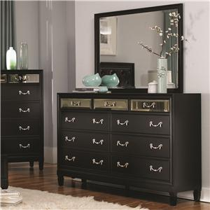 Coaster Devine Dresser and Mirror Set
