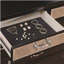 Coaster Devine 9 Drawer Dresser - Top Dresser Drawer Felt-Lined for Protecting Your Valuable Items