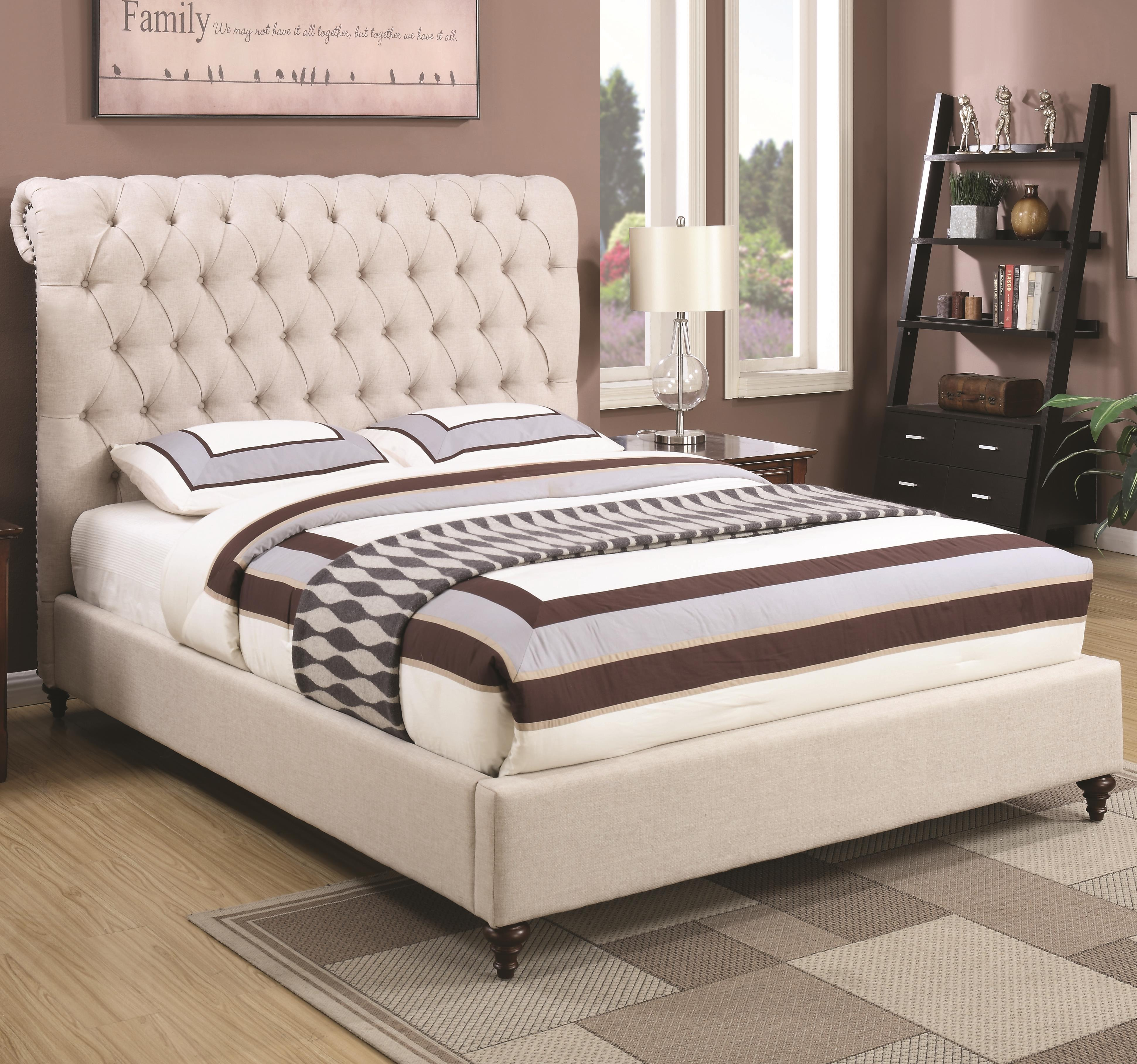Devon King Upholstered Bed by Coaster at Northeast Factory Direct
