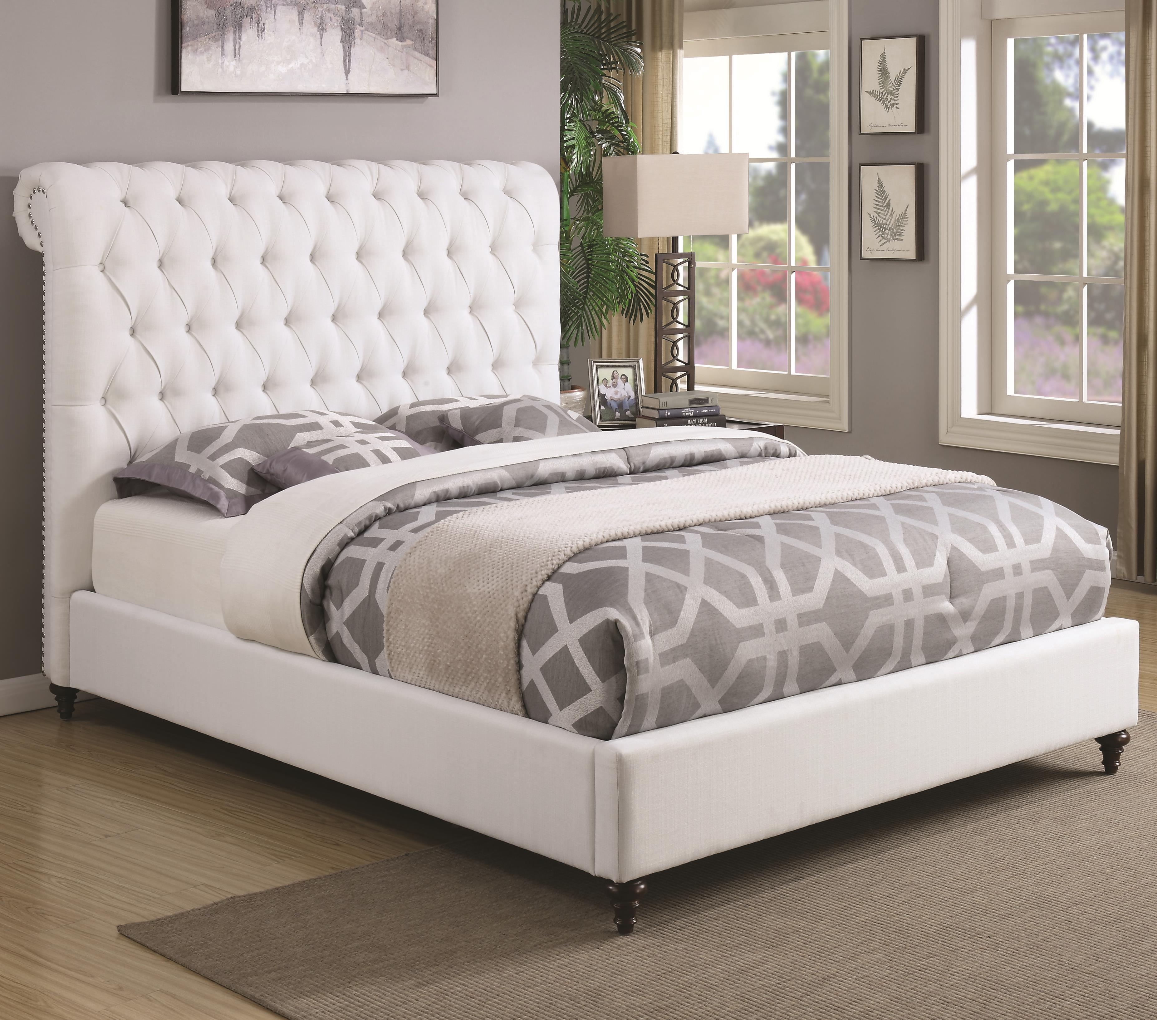 Coaster Devon King Upholstered Bed - Item Number: 300526KE