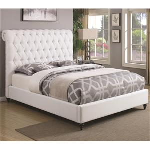 Coaster Devon Queen Upholstered Bed