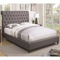 Coaster Devon King Upholstered Bed - Item Number: 300527KE