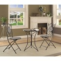 Coaster Dinettes 3 Piece Dining Set with Mosaic Tile Pattern