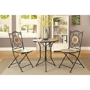 Coaster Dinettes 3 Piece Dining Set