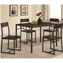 Coaster Dinettes 5 Piece Dining Set - Item Number: 120569