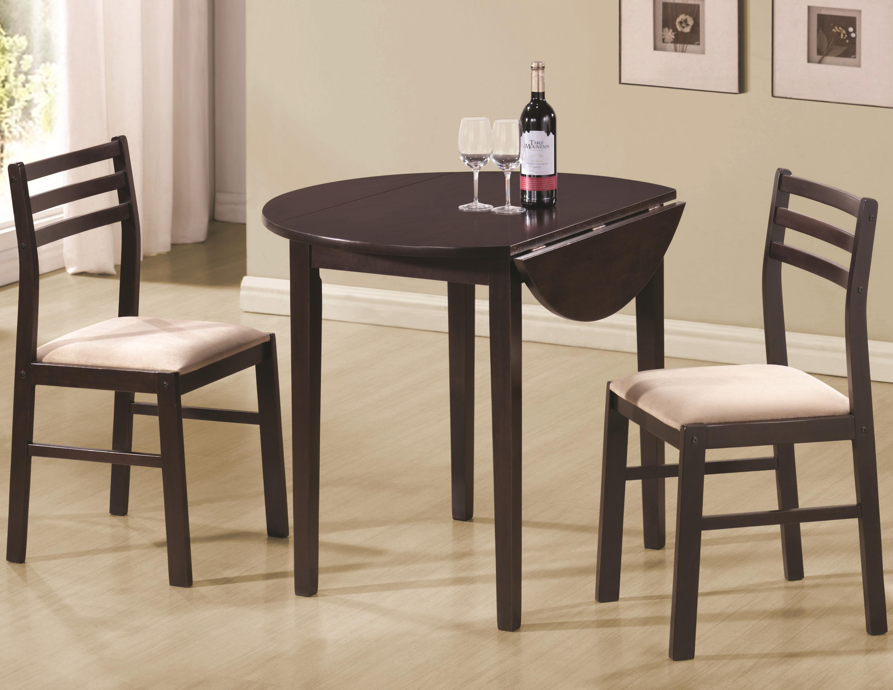 Coaster Dinettes 3 Piece Table & Chair Set - Item Number: 130005