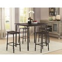 Coaster Dinettes 5 Piece Dining Set - Item Number: 150016