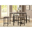 Coaster Dinettes 5 Piece Dining Set - Item Number: 150024