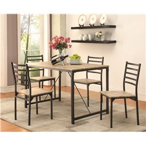 Coaster Dinettes Five Piece Dining Set