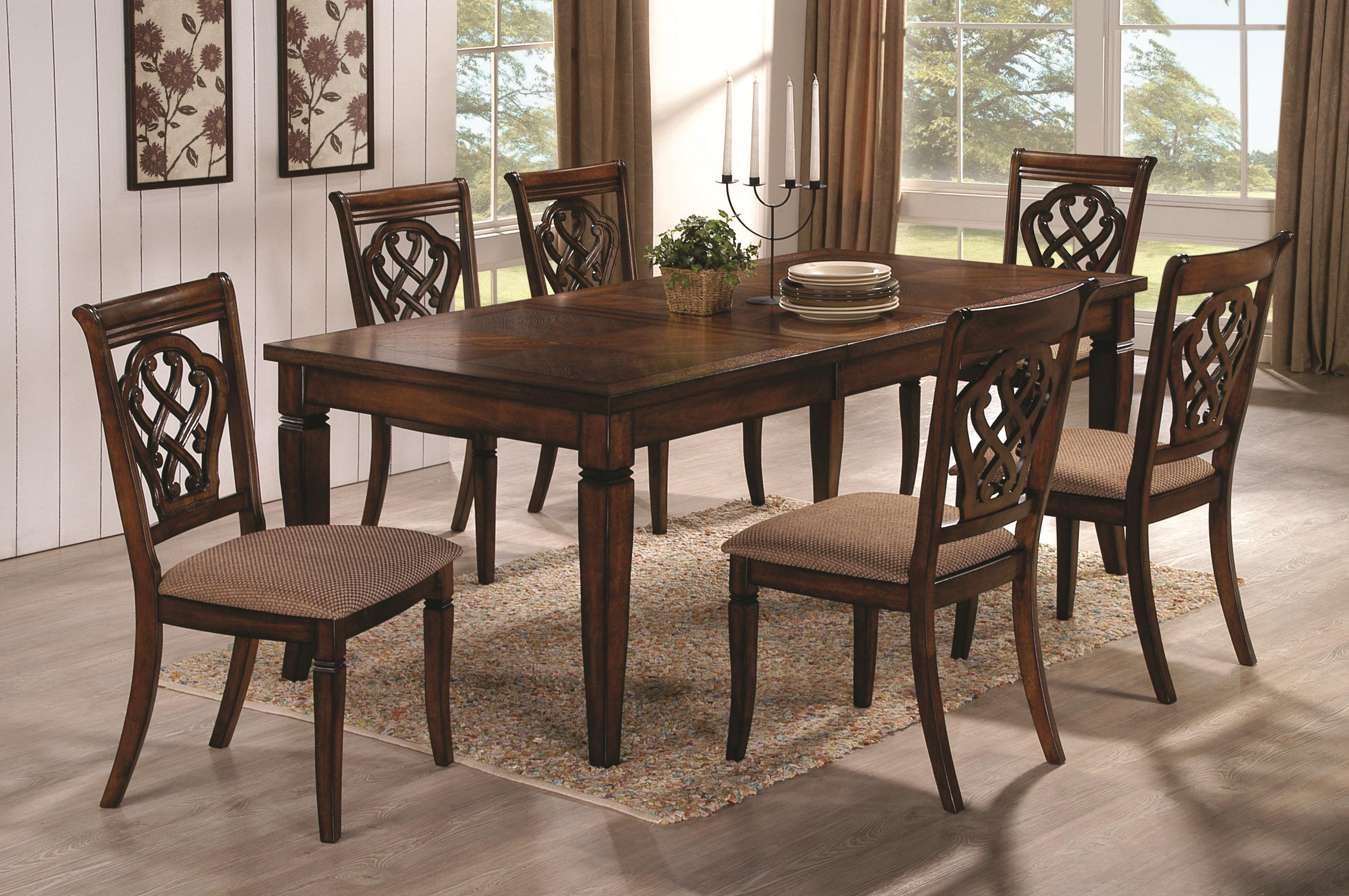 Coaster Dining 10339 Dining Table U0026 Chair Set   Item Number: 103391+2