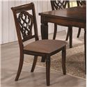 Coaster Dining 10339 Upholstered Dining Chair with Decorative Seat Back - 103392