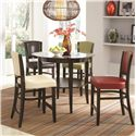 Coaster Dining 1036 Upholstered Counter Stool with Vinyl Cushion Seating - Shown in Pub Set