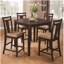 Coaster Dining 150150 5 Piece Pub Table Set - Item Number: 150159
