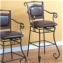 "Coaster Dining Chairs and Bar Stools 29"" Metal Bar Stool - Item Number: 100159"