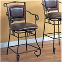 "Coaster Dining Chairs and Bar Stools 24"" Metal Bar Stool - Item Number: 100160"