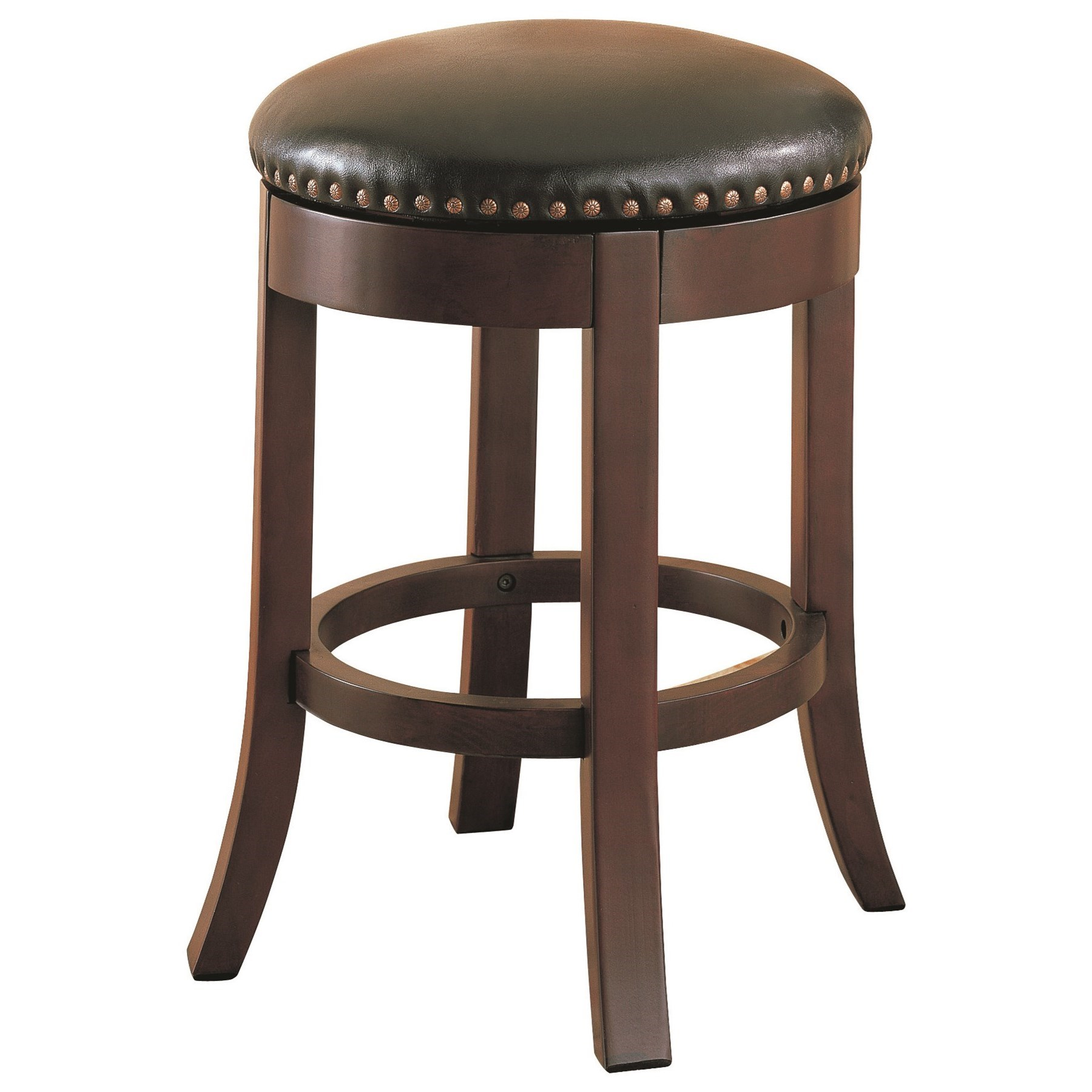 "Coaster Dining Chairs and Bar Stools 24"" Swivel Bar Stool with Upholstered Seat - Item Number: 101059"