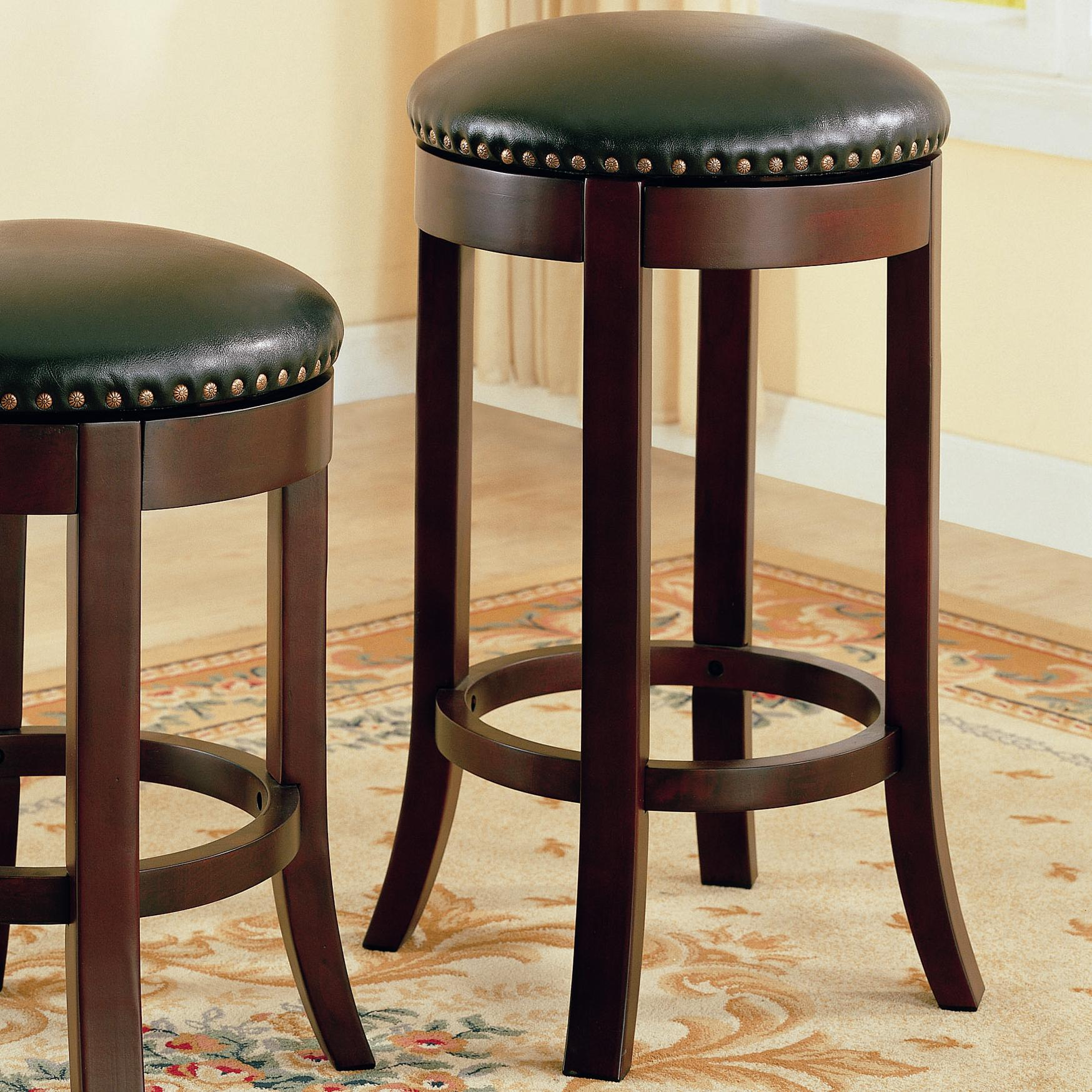 "Coaster Dining Chairs and Bar Stools 29"" Swivel Bar Stool with Upholstered Seat - Item Number: 101060"