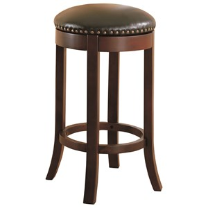 "Coaster Dining Chairs and Bar Stools 29"" Swivel Bar Stool with Upholstered Seat"