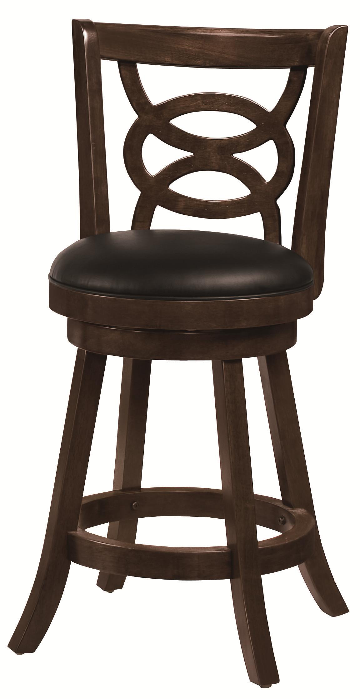 "Dining Chairs and Bar Stools 24"" Swivel Bar Stool with Upholstered Seat by Coaster at Northeast Factory Direct"