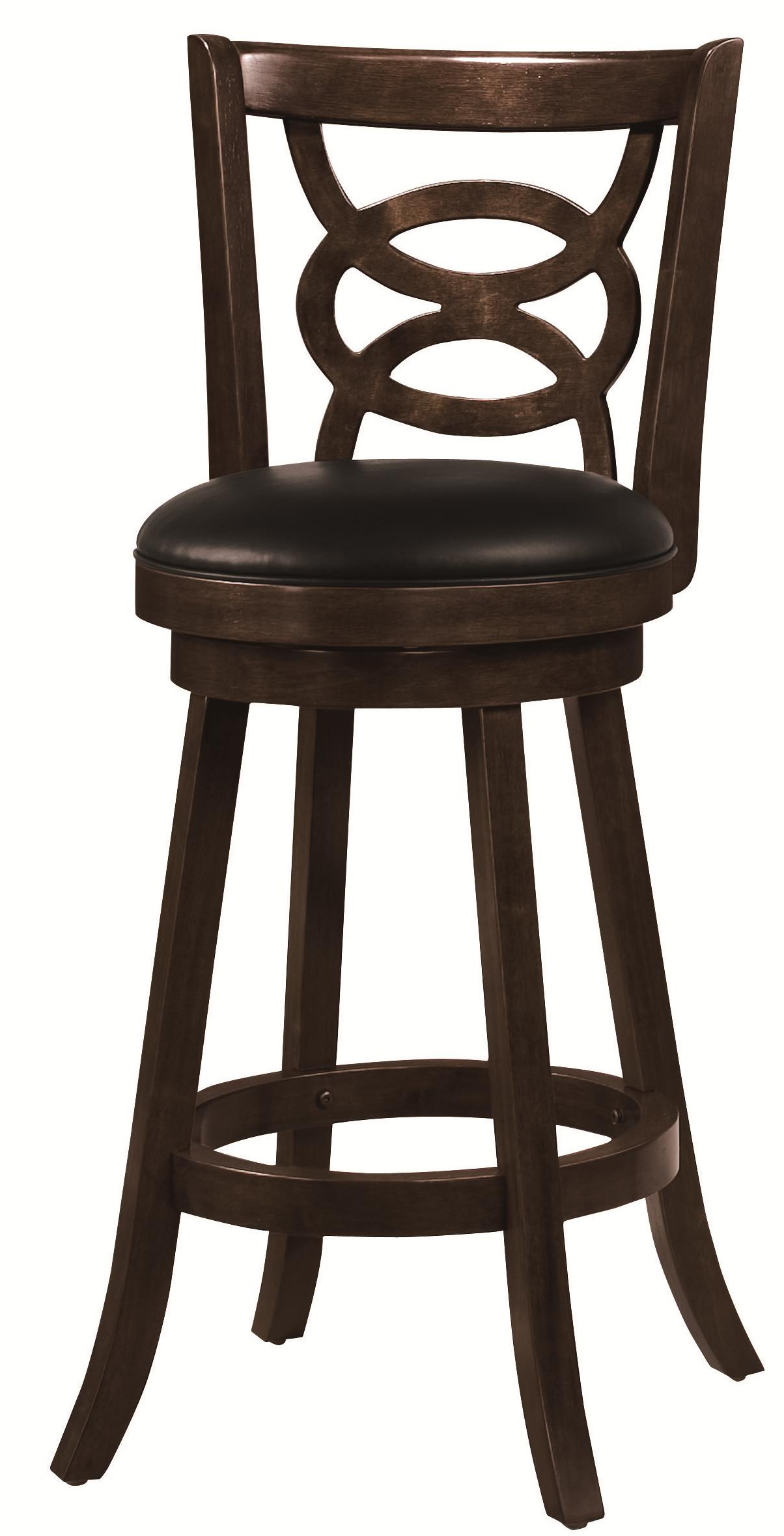 "Coaster Dining Chairs and Bar Stools 29"" Swivel Bar Stool with Upholstered Seat - Item Number: 101930"