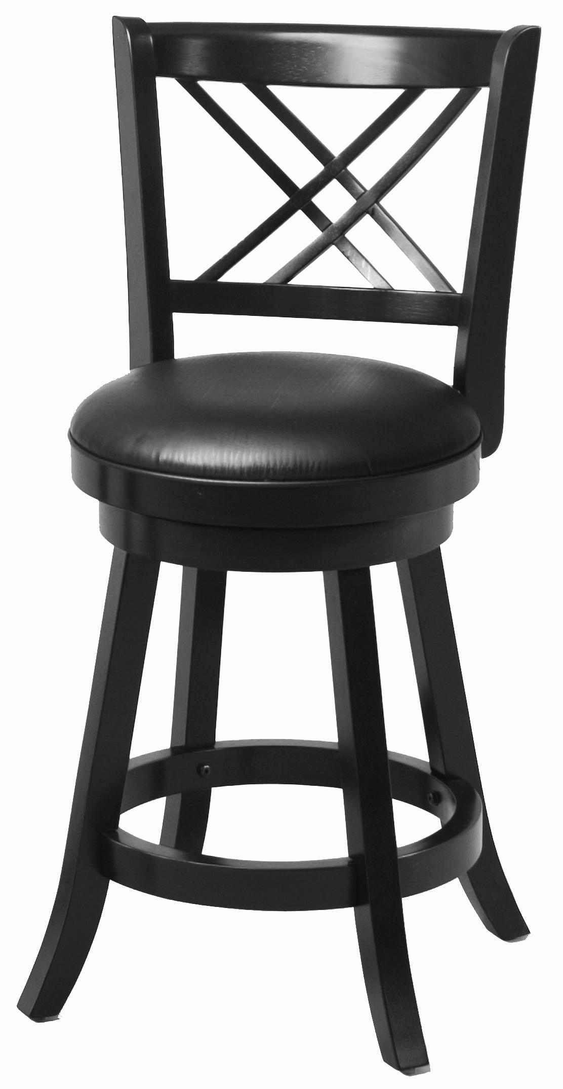 "Coaster Dining Chairs and Bar Stools 24"" Swivel Bar Stool with Upholstered Seat - Item Number: 101959"