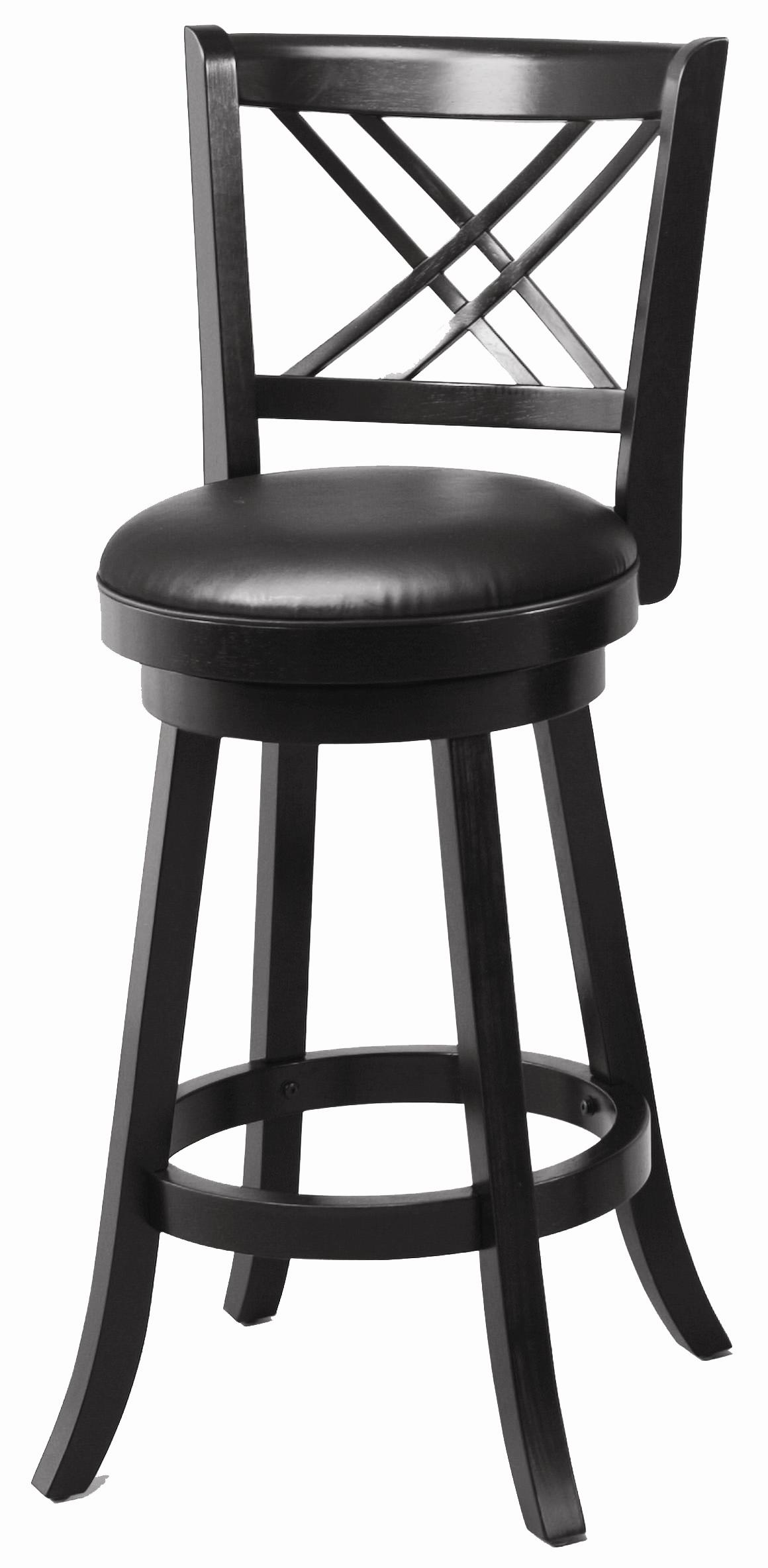 "Coaster Dining Chairs and Bar Stools 29"" Swivel Bar Stool with Upholstered Seat - Item Number: 101960"