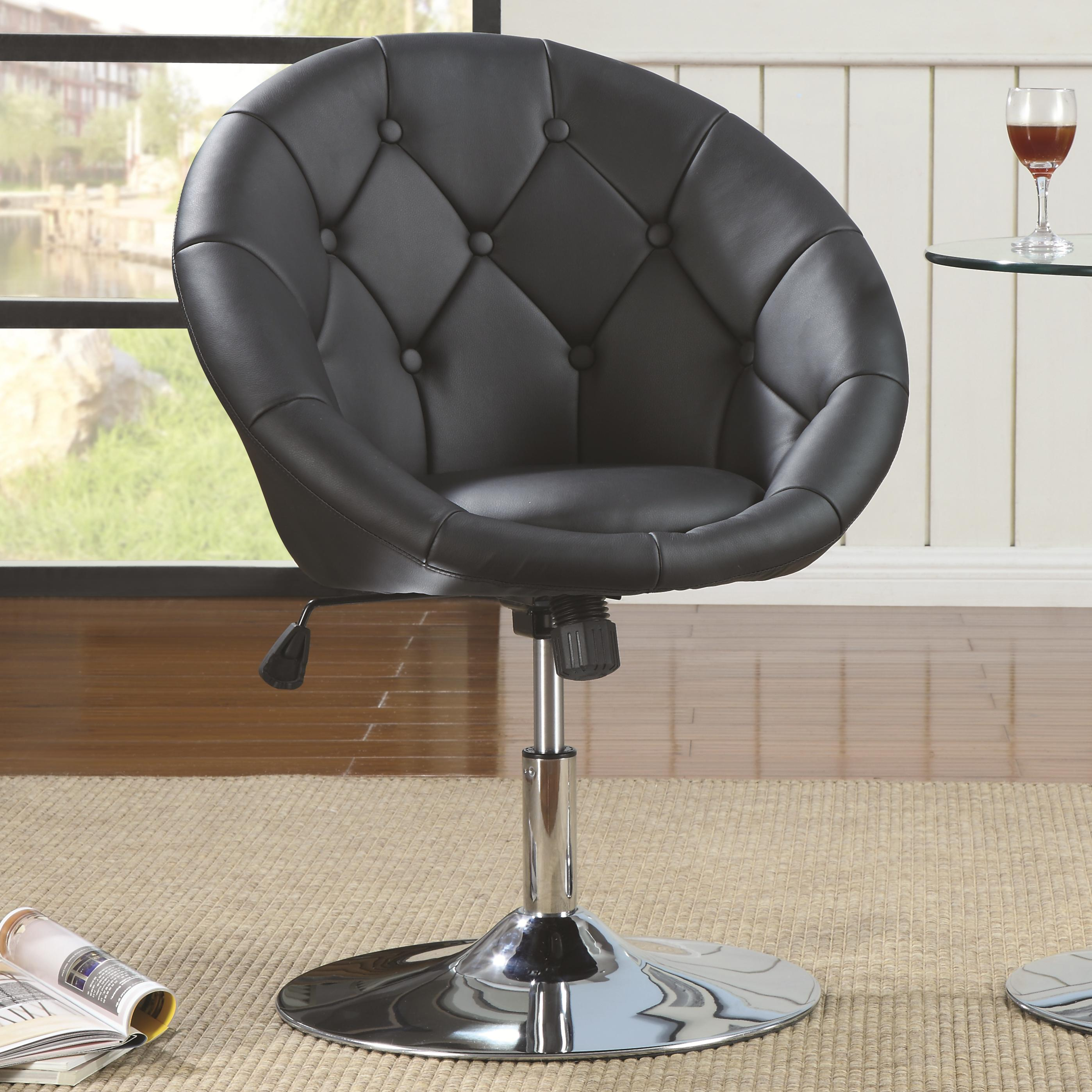 Coaster Dining Chairs and Bar Stools Swivel Chair (Black) - Item Number: 102580