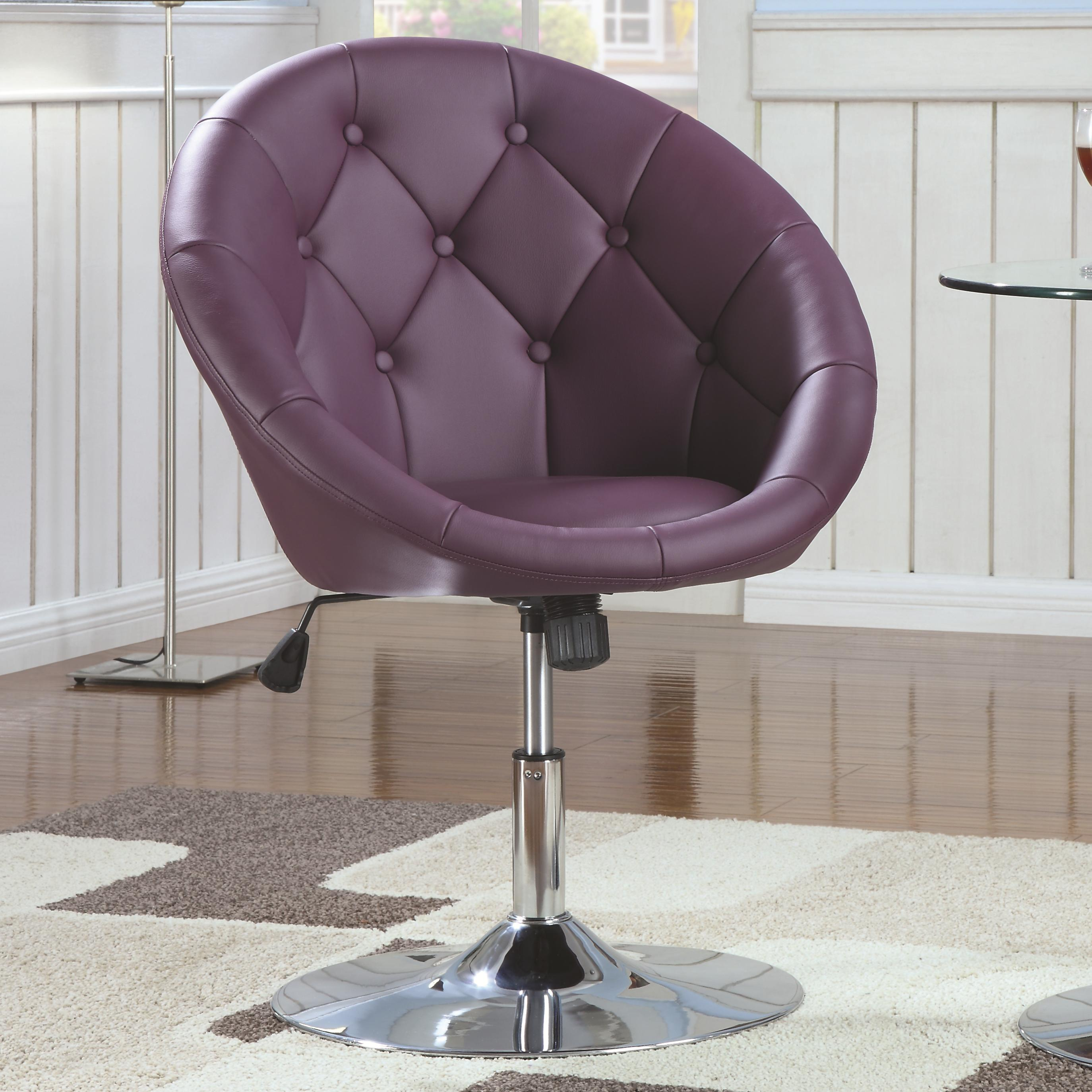 Coaster Dining Chairs and Bar Stools Swivel Chair (Purple) - Item Number: 102581