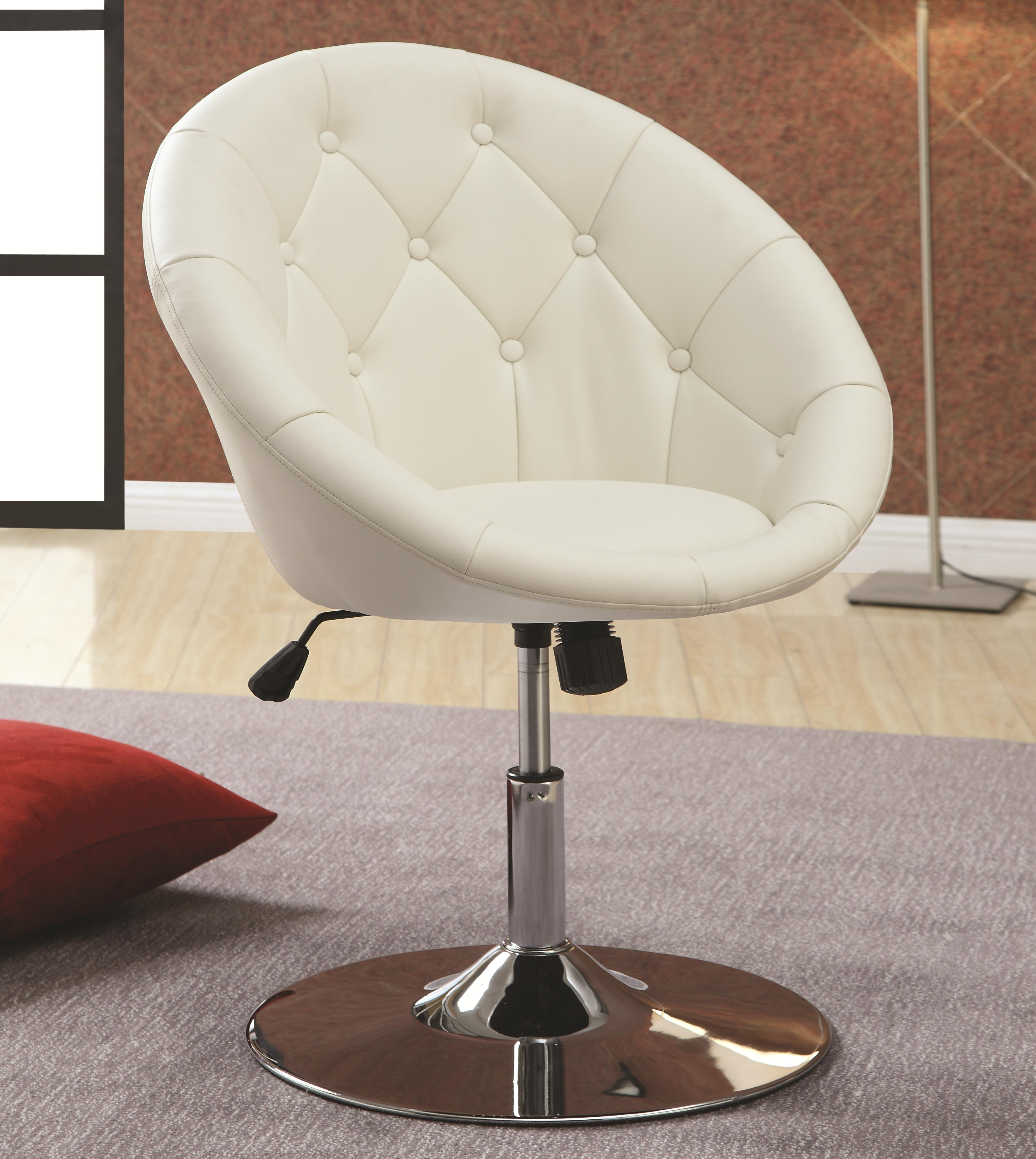 Coaster Dining Chairs and Bar Stools Swivel Chair (White) - Item Number: 102583