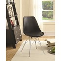 Coaster Dining Chairs and Bar Stools Contemporary Dining Chair with Chrome Legs