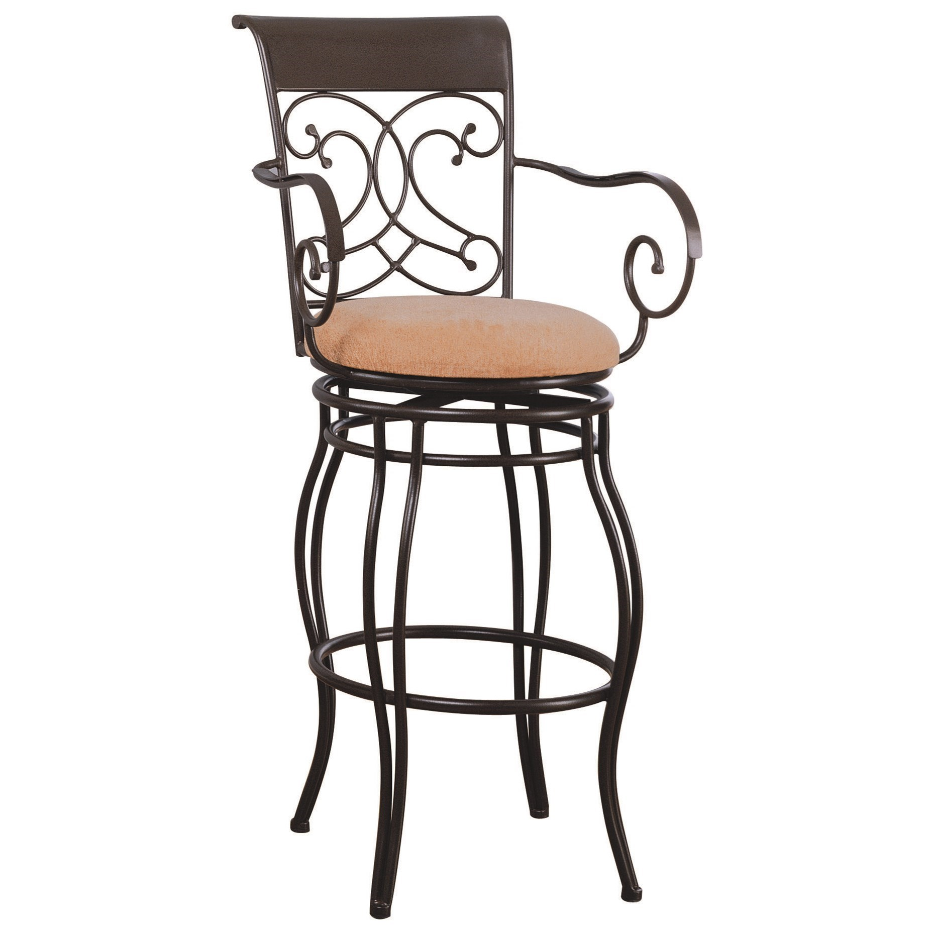"Coaster Dining Chairs and Bar Stools 29"" Metal Bar Stool with"