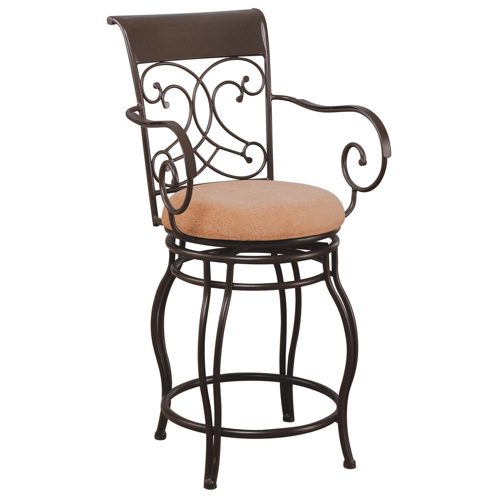 "Coaster Dining Chairs and Bar Stools 24"" Metal Bar Stool - Item Number: 120020"