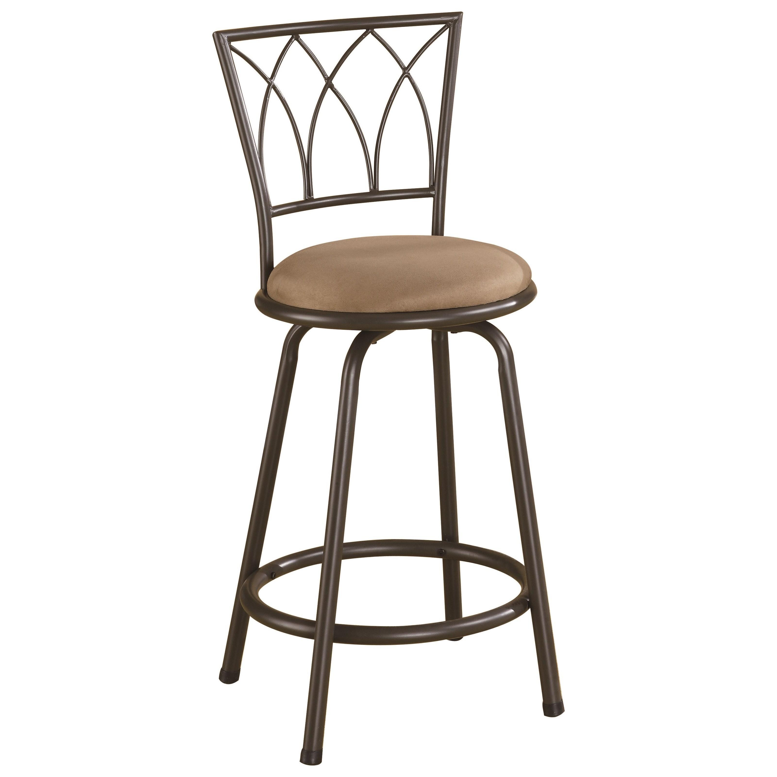 "Coaster Dining Chairs and Bar Stools 24"" Metal Bar Stool - Item Number: 122019"