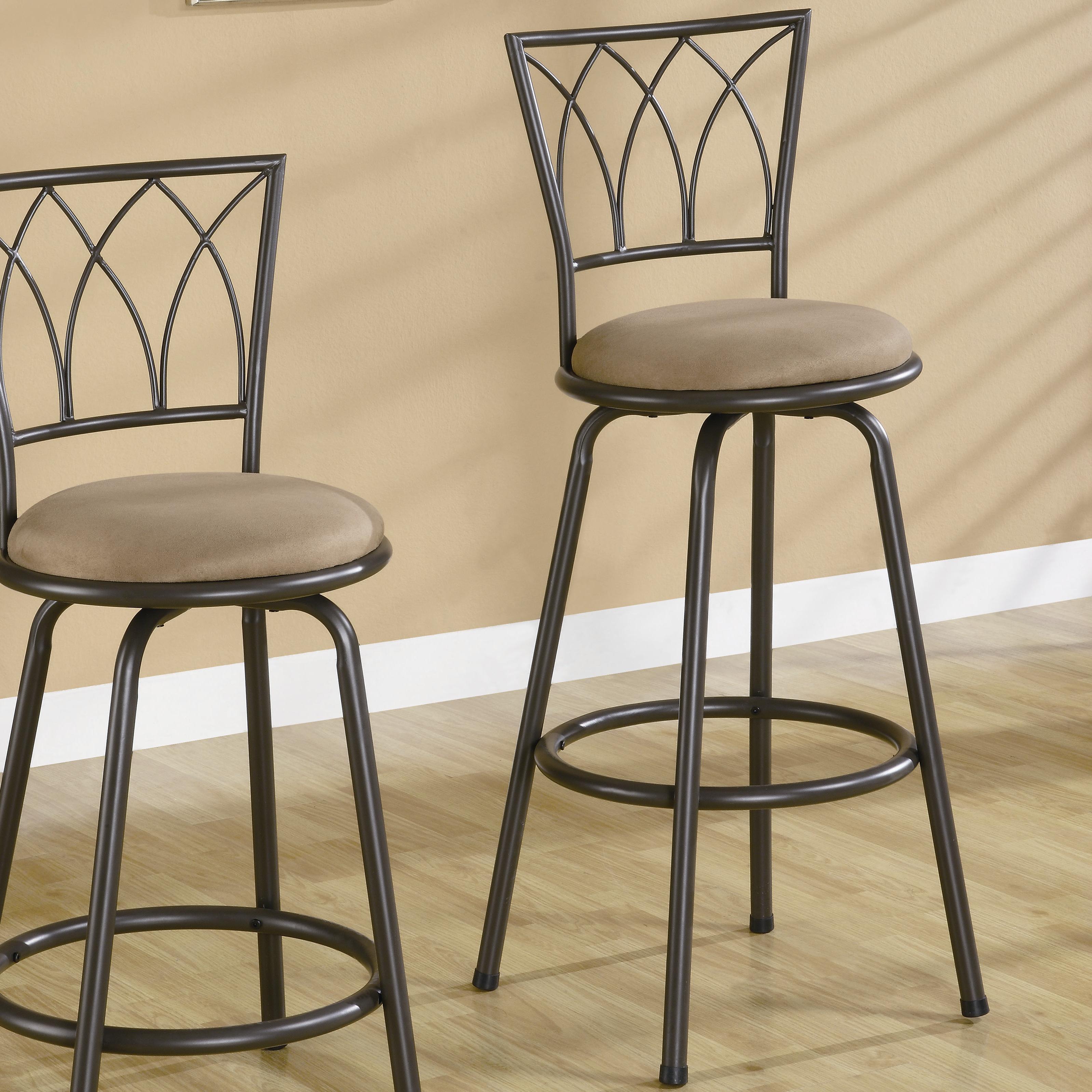 "Coaster Dining Chairs and Bar Stools 29"" Metal Bar Stool - Item Number: 122020"