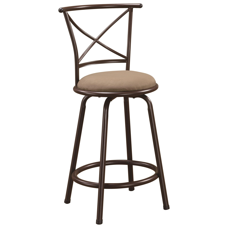 "Coaster Dining Chairs and Bar Stools 24"" Metal Bar Stool - Item Number: 122029"