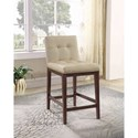 Coaster Dining Chairs and Bar Stools Casual Upholstered Counter Height Stool