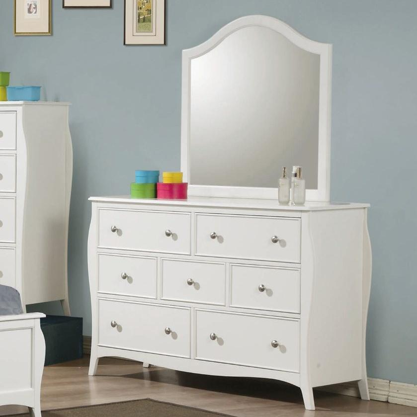 Coaster Dominique Drawer Dresser With Mirror Lapeer