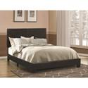 Coaster Dorian Black Upholstered Leatherette Full Bed