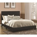 Coaster Dorian Black Leatherette Upholstered Queen Bed - Bed Shown May Not Represent Size Indicated