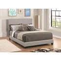 Coaster Dorian Grey Leatherette Upholstered Twin Bed