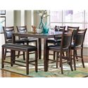 Coaster Dupree Casual 8 Piece Pub Table Set with Bench