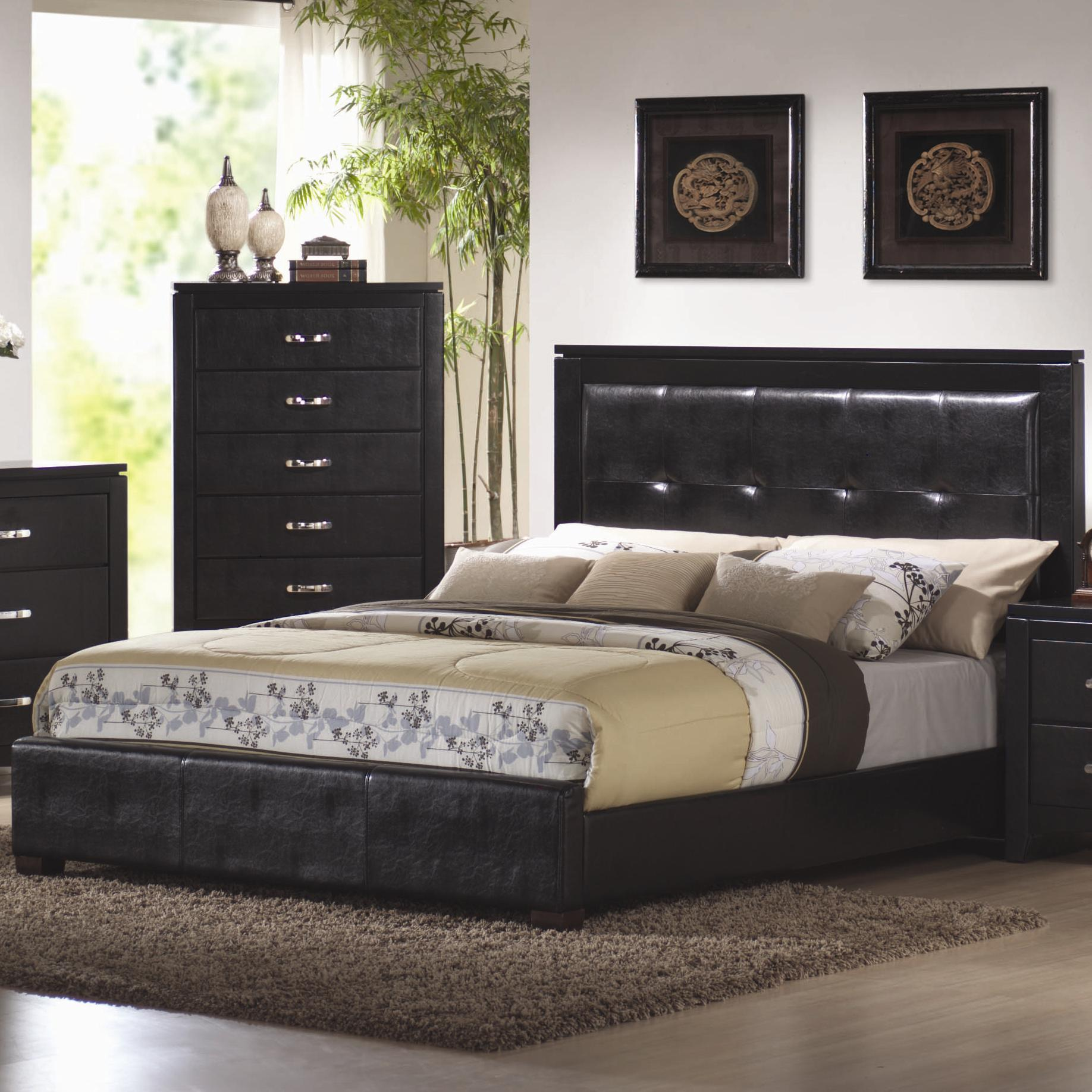 Coaster Dylan King Upholstered Bed - Item Number: 201401KE