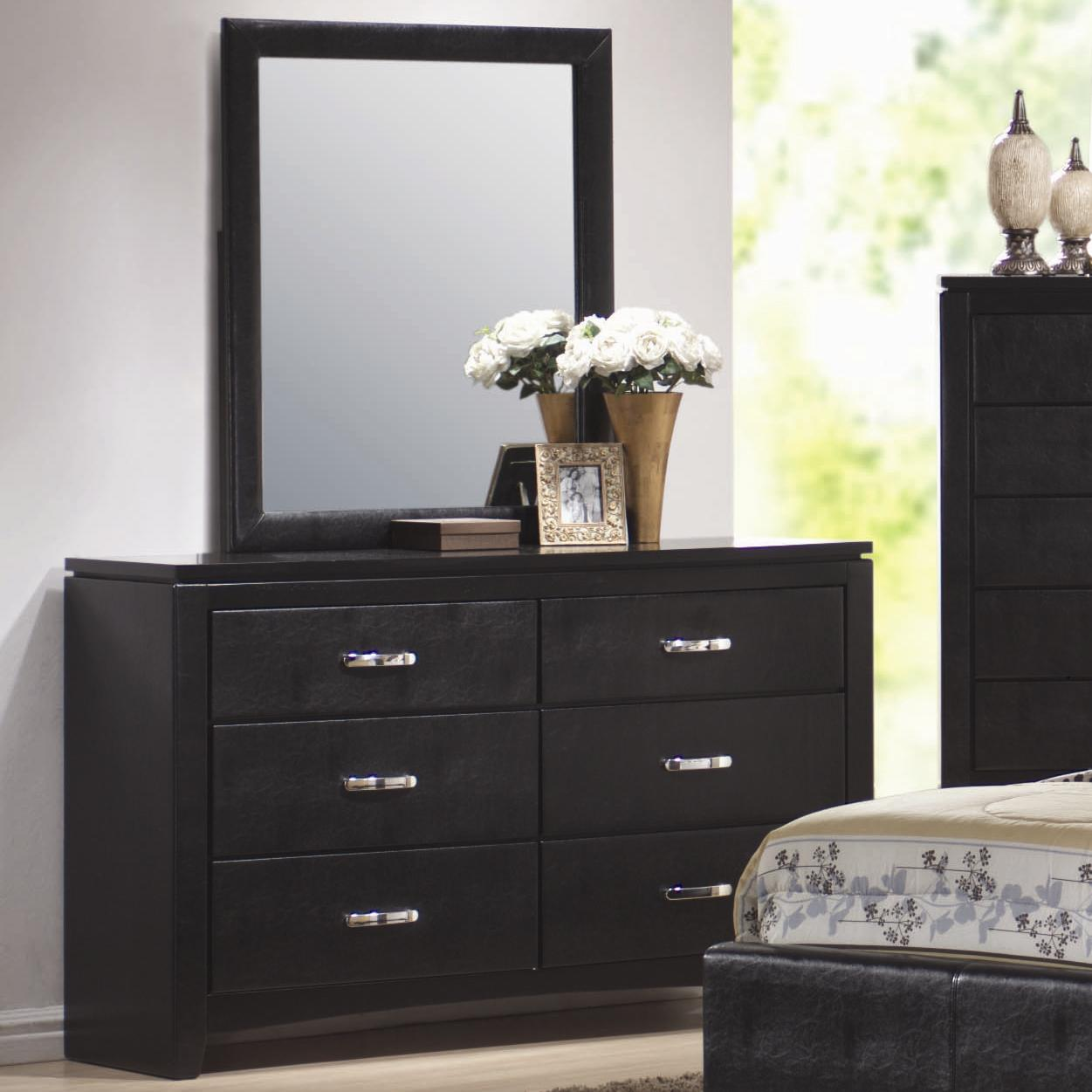 Coaster Dylan Dresser and Mirror - Item Number: 201403+4
