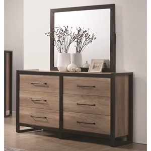 Coaster Edgewater Dresser and Mirror Set