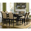 Coaster Cabrillo Counter Height Chair with Fabric Rolled Back and Seat - Shown with Dining Table